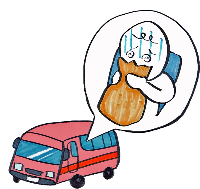 乗り物酔い 画像
